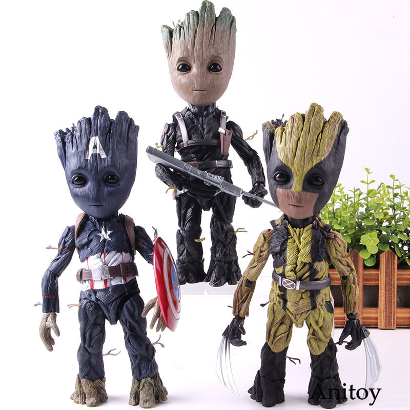 Tree Man Cosplay Captain America Winter Soldier Super Heros Action Figure Marvel PVC Collection Model ToyTree Man Cosplay Captain America Winter Soldier Super Heros Action Figure Marvel PVC Collection Model Toy
