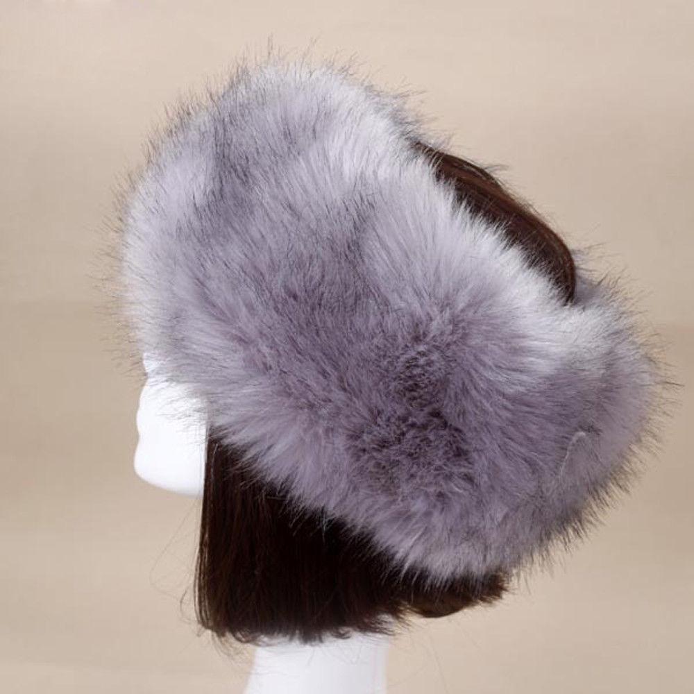 09a6db58 Womens Winter Russian Fluffy Faux Fur Hat Warm Ear Warmer Snow Ski Hats Cap  Flap Faux Fur Raccoon Cap Fashion-in Bomber Hats from Apparel Accessories  on ...