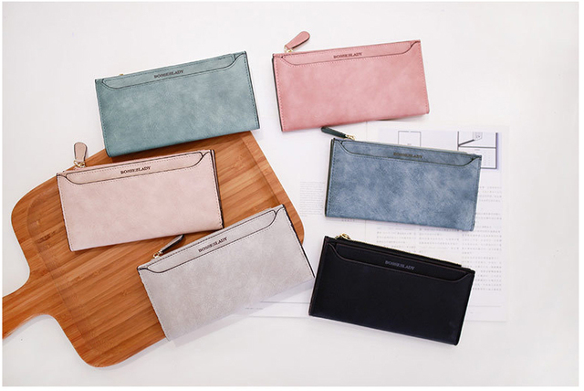 Women's Wallet High Capacity Card Holder Leather Bifold