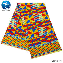 LIULANZHI african print fabric wax ankara polyester fabrics 6yard MX13L348-356