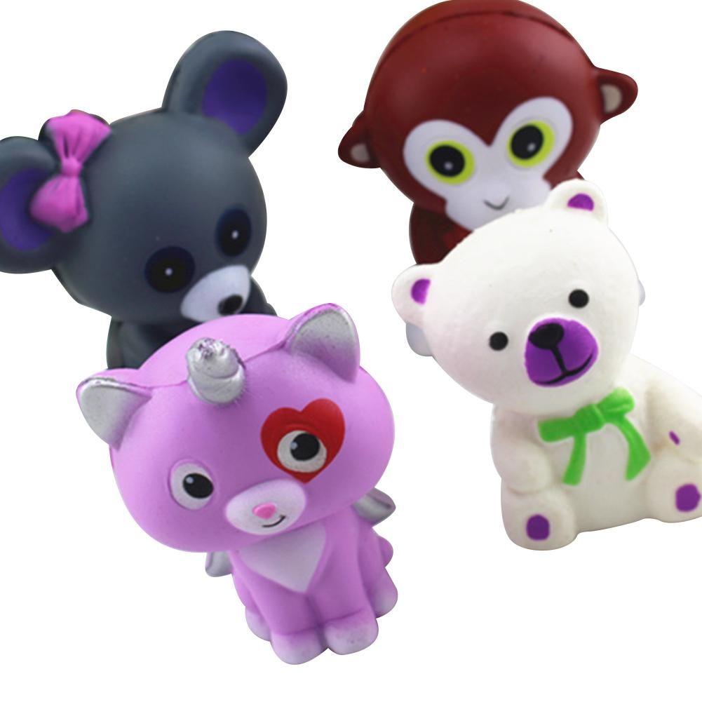 Cute Cartoon Animal Design Slow Rising Toys Funny Squishy Vent Toys Kid Toy Gift