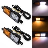 2pcs Car Truck Rectangle Front Indicator Parking LED Light Sealing Lamp Bulb Bar 12V 24V White Yellow Light New
