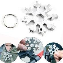 18 в 1 многофункциональные инструменты для ремонта велосипедов, портативные отвертки в форме снежинок, восьмиугольные ключи, доступная цепочка для ключей