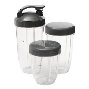 Image 3 - 3 шт. Сменные чашки 32 унции, цветные + 24 унции, высокий + 18 унций, маленькая чашка + 3 крышки для соковыжималки для фруктов, запчасти для кухонного прибора B