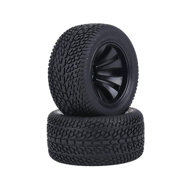 2019 2 unids/set caucho Pneus coches de carreras neumáticos y Hubs de plástico rueda para 1:12 RC coche de carreras camión piezas de control remoto Superior