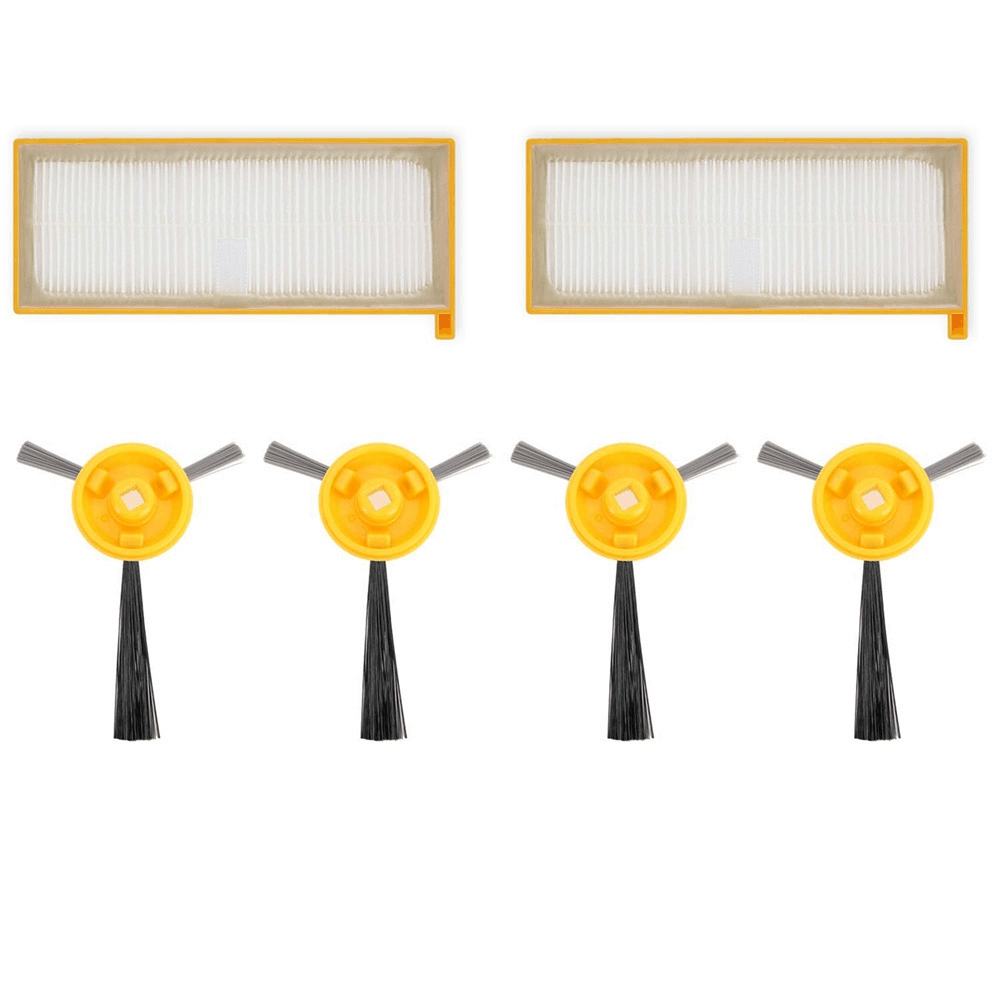 includes 4 Side Brushes 2fi Special Summer Sale Cleaning Appliance Parts Vacuum Cleaner Parts Search For Flights Vacuum Filter And Side Brushes Replacement Kit For Shark Ion Robot Rv700 Rv720 Rv750 Rv750c Rv755