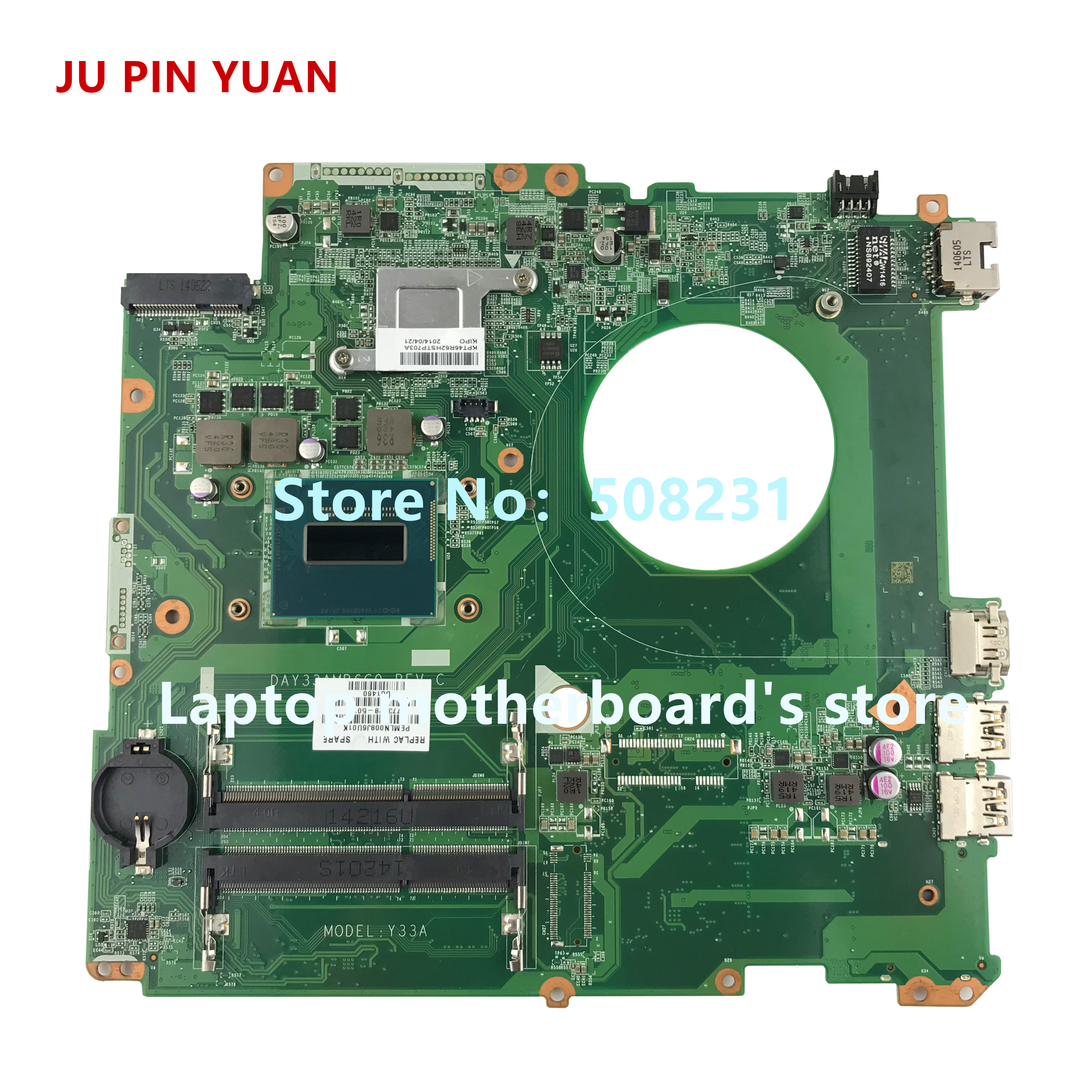 Laptop Motherboard Ju Pin Yuan 773128-501 Day33amb6c0 Y33a Mainboard Für Hp Envy 17-k 17t-k Laptop Motherboard Mit Hm87 I7-4710hq Voll Getestet StäRkung Von Sehnen Und Knochen