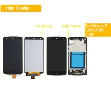 10Pcs/lot 4.95 ORIGINAL Display for LG Nexus 5 LCD Touch Screen with Frame For Google D820 D821