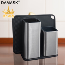 Damask Knife Holder Stainless Steel Kitchen Stand Large Capacity Multifunctional Block Sooktops Shelf