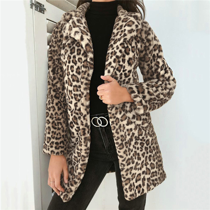 Women's Clothing Fashion Women Leopard Print Harajuku Hooded Coats And Jackets Zip Up Casual Ladies Top Veste Femme Outwear