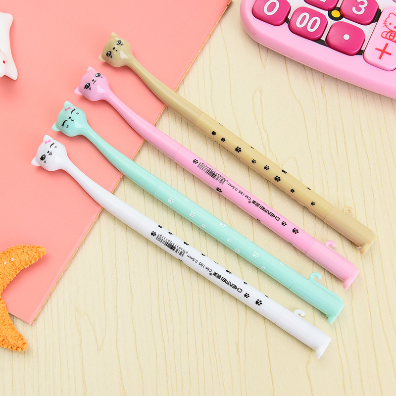 60 pcs/lot wholesale cute gel pen cat cartoon cat gel pen kawai cute kawaii stationery pens canetas material escolar cat gel pen 36 pcs lot cute cat gel pen novelty cartoon animal kitty pens black ink stationery school wholesale office supplies gel pen