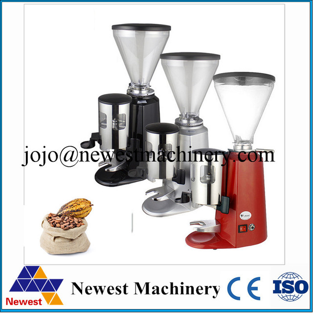 Commerical Super power electric coffee grinder automatic aluminum burr conical coffee mill high quality wholesale appliance
