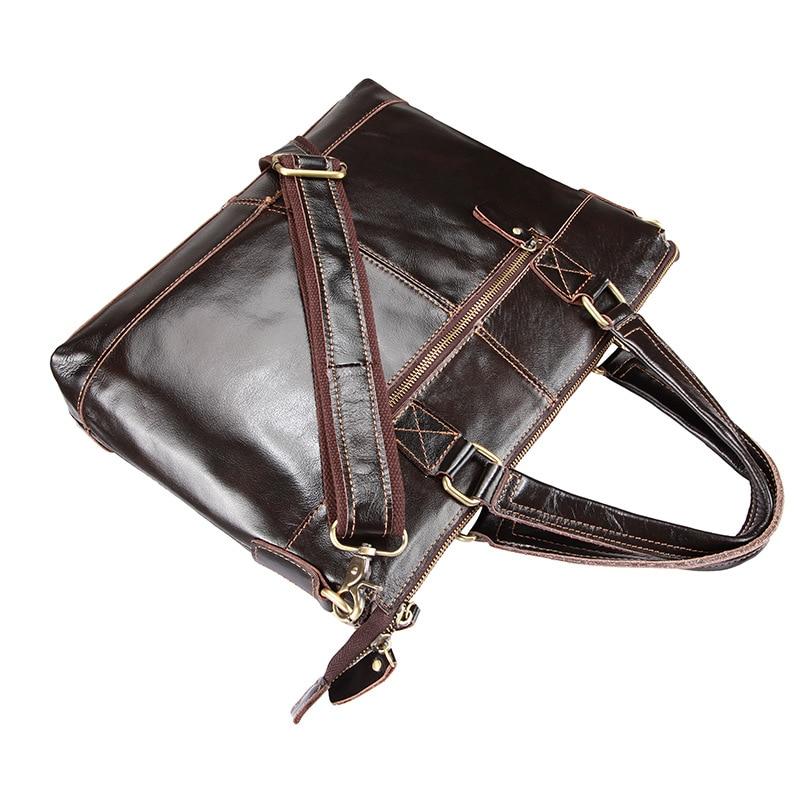 Leder Echtes Laptop Marke Business Aktentasche Black Männer Brown Handtasche Aktentaschen Umhängetasche B6wqHgq