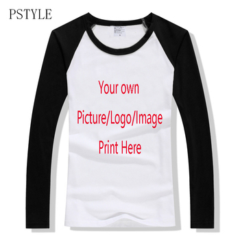 53be10427214 Camisetas personalizadas para mujer camiseta manga raglán tu propio ...
