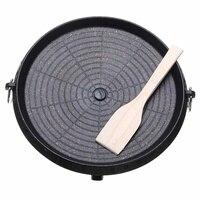 Корейский решетка для уличного барбекю антипригарным круглые для барбекю Пан грили легко очищается алюминий Портативный газовая плита кух...