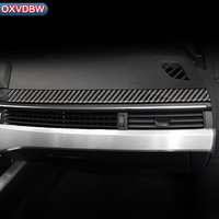 Carbon Fiber Interior Car Dashboard Decoration Strip Sticker For Audi a4 b9 RS4 S4 Accessories 2016 2017 2019Car Styling