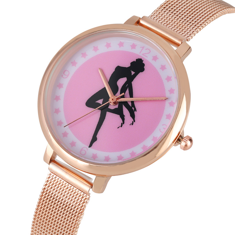 Timekeeper Elegant Quartz Watch Women Bracelet For Women Styliah Sailor Pattern Dial Watches Premium Steel Mesh Band Wrist Watch