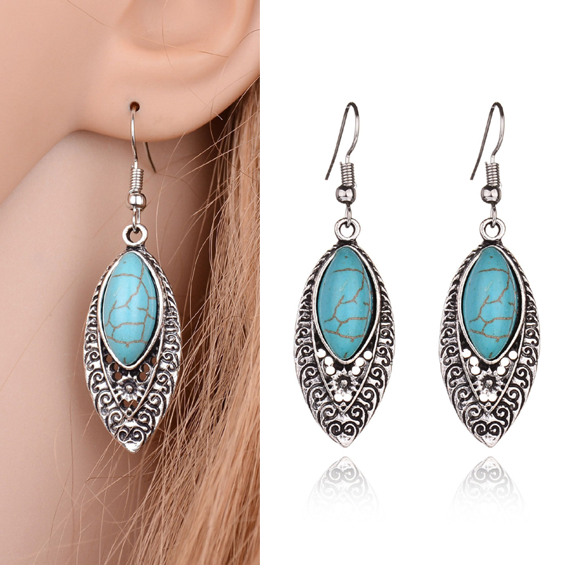 Mountainer Boho Unique Gold Silver Color Love Letter Dangle Earrings for Women Girl Party Jewelry