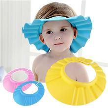 3 шт. детская шапочка для душа с защитой ушей, шапочка для ванной с регулируемым мягким шампунем, шапочка для купания для малышей