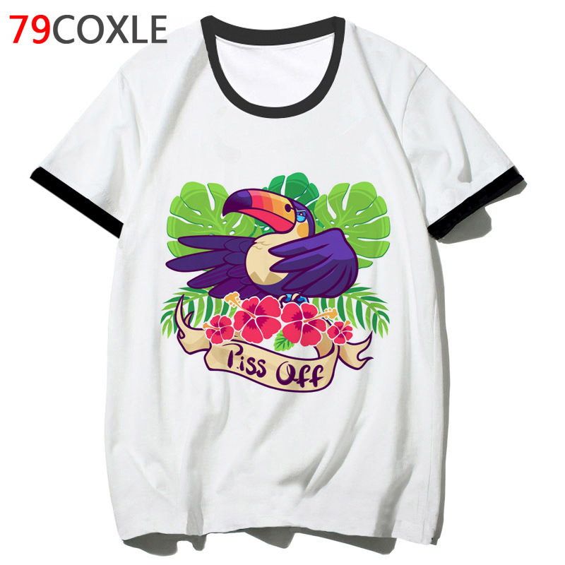 Toucan T Shirt Tshirt Men Tee Streetwear Hop Male 2019 T-shirt Top Clothing Harajuku School Funny For Hip F4806