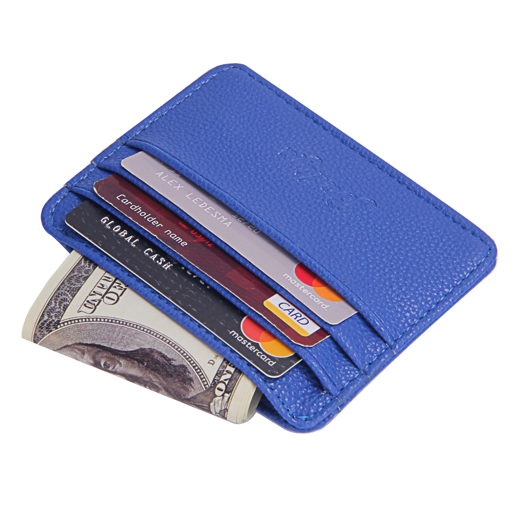 Slim Card Holders Men Litchi Pattern Bank Credit Card Holder Male ID Cards Case Driver License Cover Short Wallets For Men