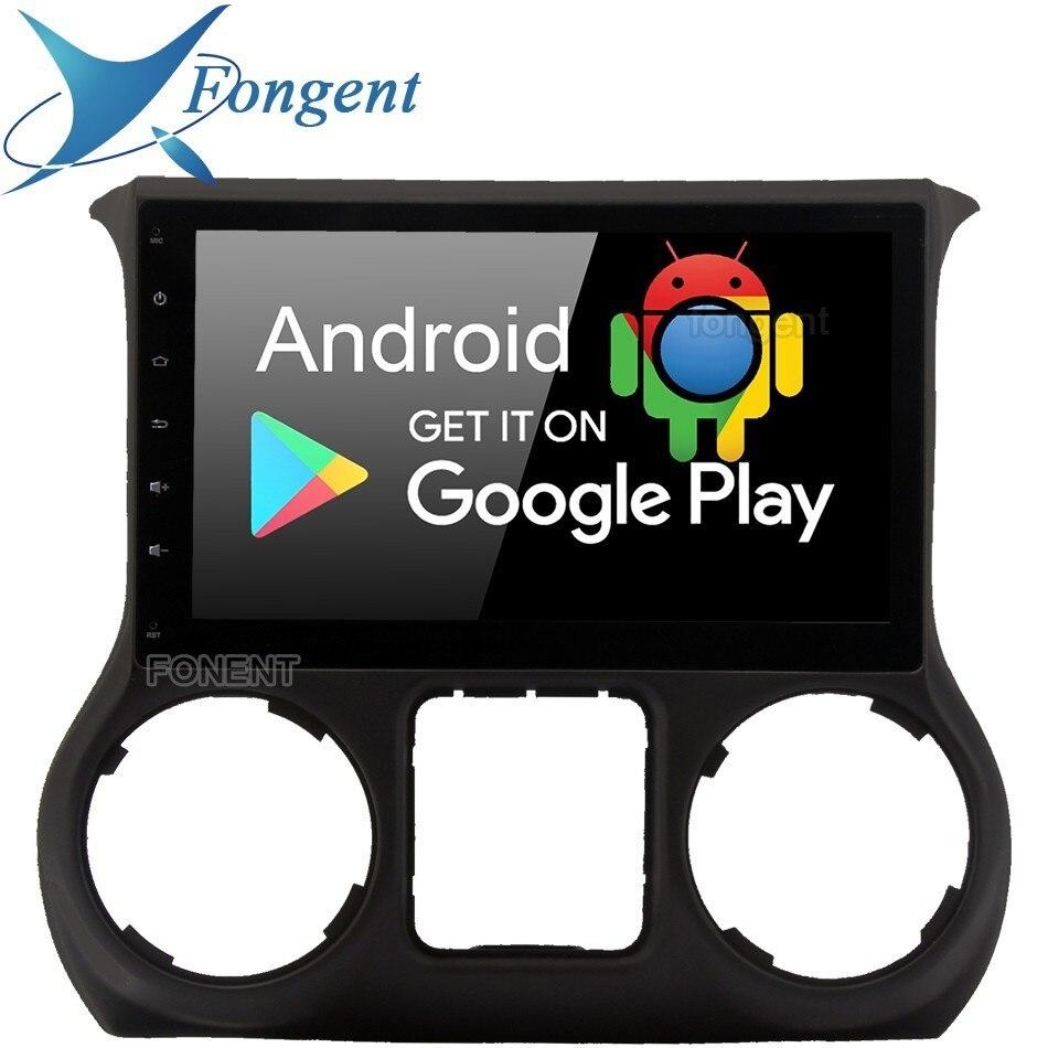 10.2 lecteur Radio GPS de voiture Android 9.0 pour Jeep Wrangler 2011 2012 2013 2014 2015 2016 avec système multimédia stéréo automatique PX6 PC