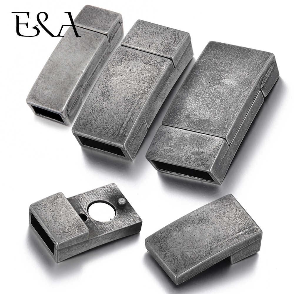 Acero inoxidable Cierre magnético agujero 6*3mm 8*3mm 10*3mm Cable de cuero Vintage cierre magnético pulsera DIY suministros de fabricación de joyas