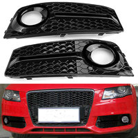 1Pair Fog Light Cover Grille Grill For Audi A4 B8 2009 2011 Car Front Bumper Light Grills in Racing Grills Glossy Standard Style