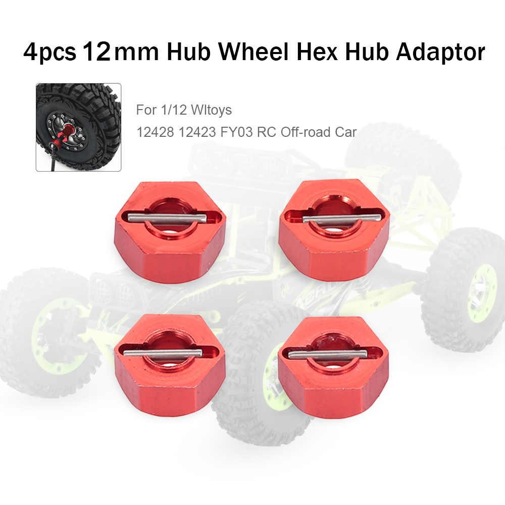 12mm Metalen Hub Wiel Hex Adapter voor 1/12 Wltoys 12428 12423 FY03 Hopup Onderdelen Off-road RC Auto RC Crawler 4 pcs