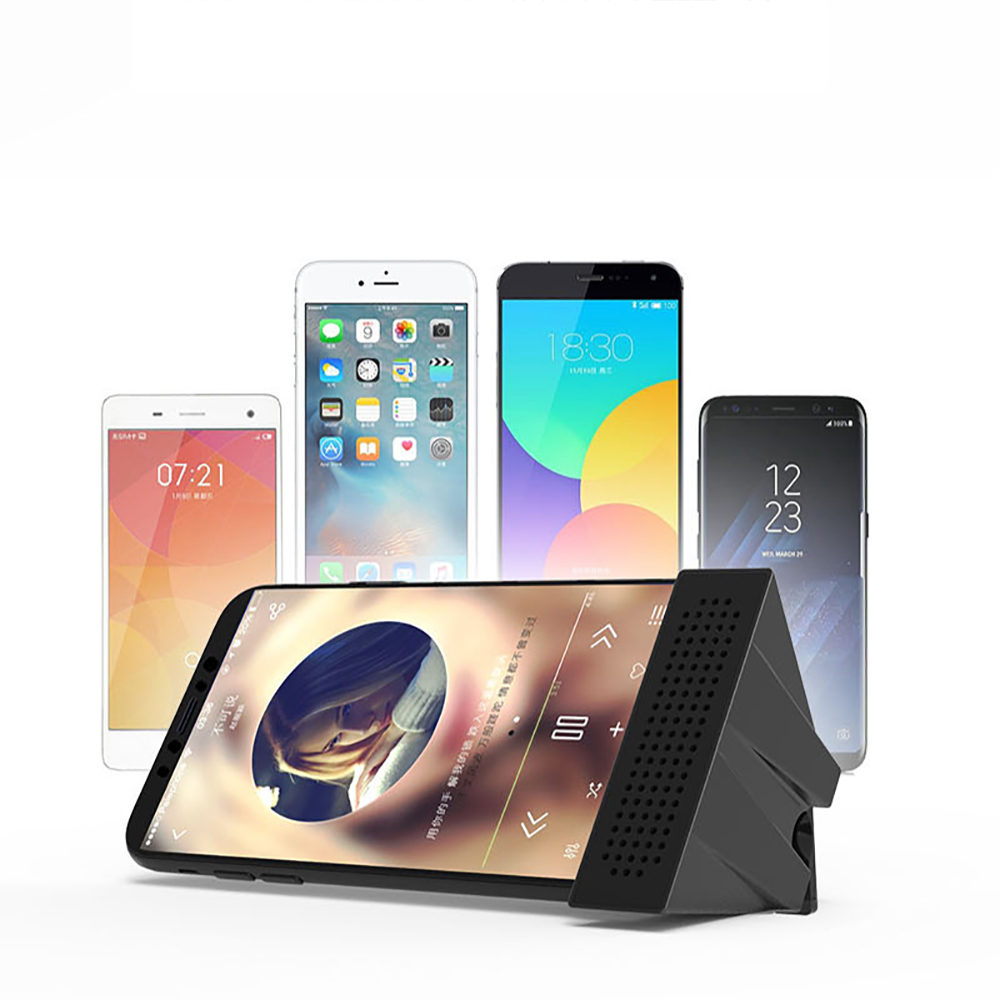 Portable Mini ABS Desk Phone Holder With Sound Amplification Function Creatived Fidelity Sound Amplifier Phone Stand Bracket in Phone Holders Stands from Cellphones Telecommunications