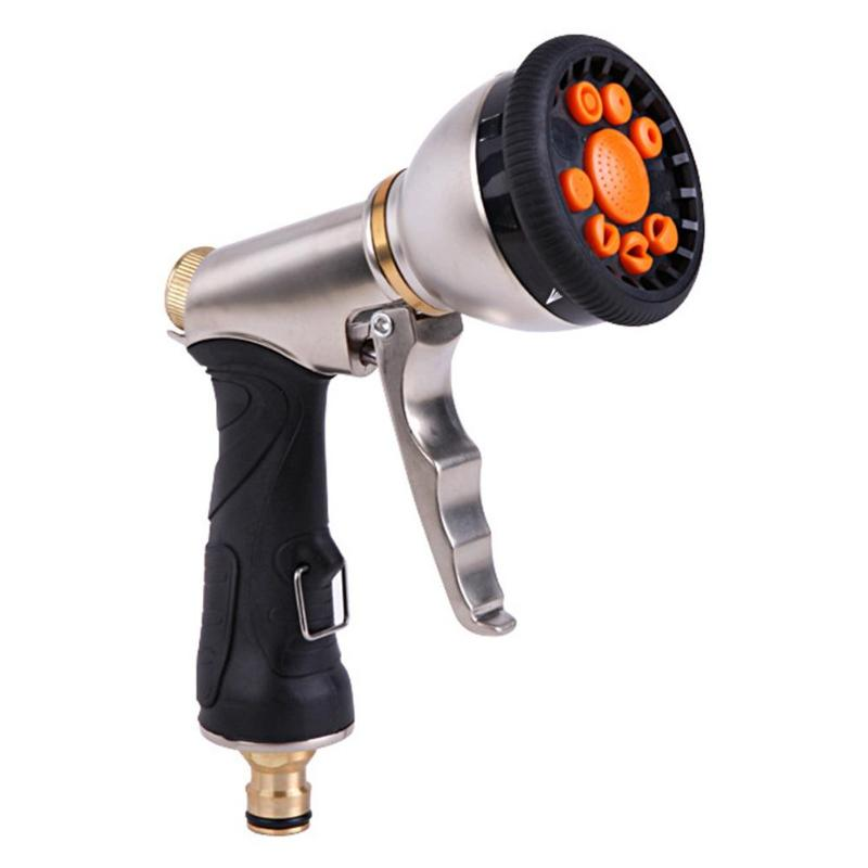 Image 1 - 2019 New 9 Pattern Multifunctional High Pressure Sprinkler Garden Water Hose Nozzle  7 adjustable mode heads including shower-in Garden Sprinklers from Home & Garden