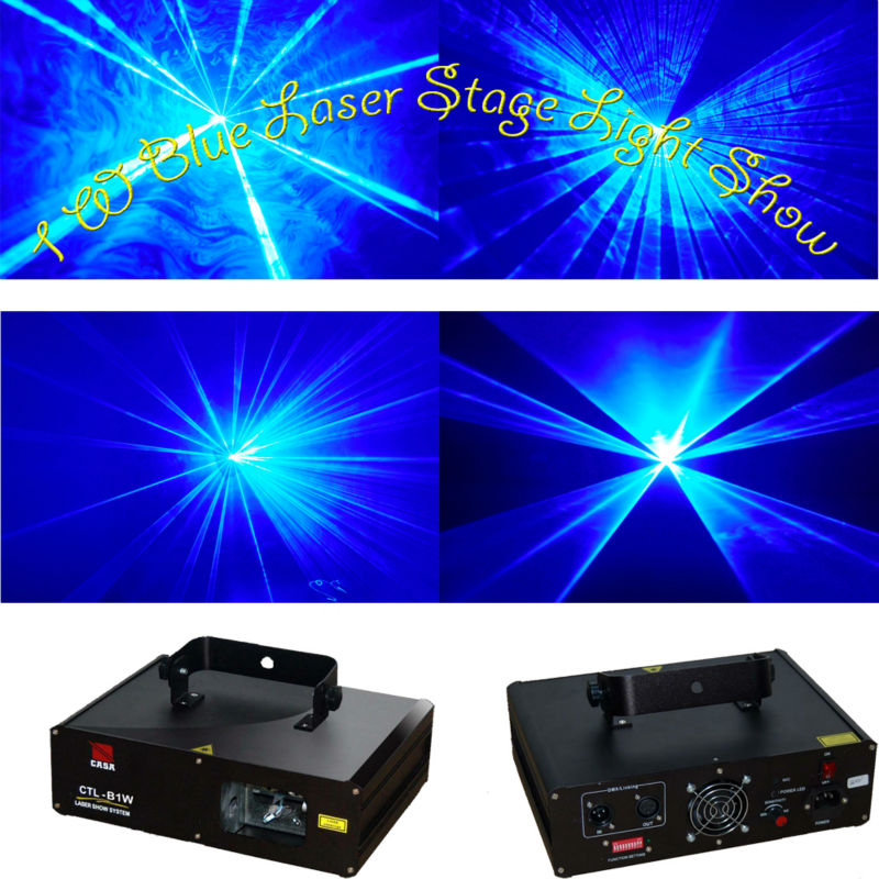 1000mW Blue Beam Stage lighting effects Disco Christmas Party lights blue Laser projector