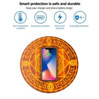 Magic Array Glowing Circle QI Wireless Charger 5W Universal Unique Design Type C Fast Charging Pad for iPhone Xiaomi Samsung