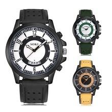 3 Color Watch Men New Fashion Wristwatch Sport Analog Quartz Leather Watch Relojes Hombre Men's Army Military Cool Watch все цены