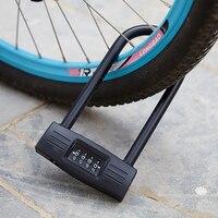 Code Password Bike Combination Lock Alloy Steel Tough Security U Lock Fietsslot Bicycle Lock Candado Bicicleta Bike Accessories