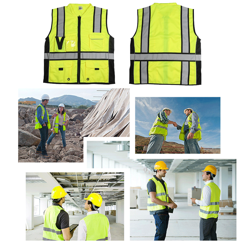 Image 5 - SFVest High Visibility Reflective Safety Vest Reflective Vest Multi Pockets Workwear Security Working Clothes Safety WaistcoatSafety Clothing   -