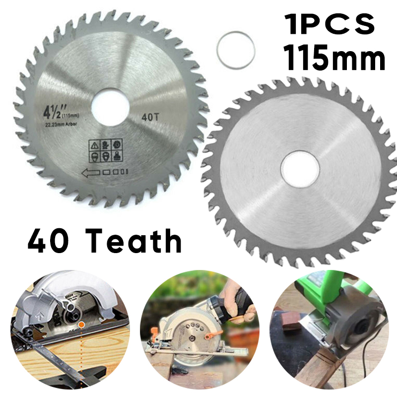1pc 4.5'' 40 Teeth Grinder Ultra Saw Blade Disc Circular Round Sawing Blade Wood Woodworking Rotary Cutting Power Tool Accessory