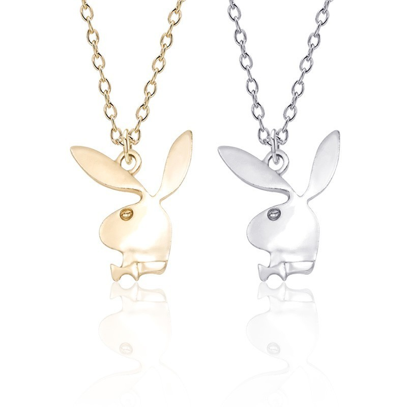 US $0 72 55% OFF|Trendy Rabbit Necklace Women Gold Silver Metal Bunny Head  Charm Pendant Necklaces Fashion Animal Jewelry Dropshipping Collares-in