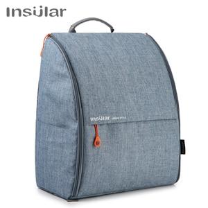 Image 1 - Insular poliéster grande mamãe papai mochila fralda do bebê saco de viagem saco de armazenamento com stroller correias mudando esteira molhada