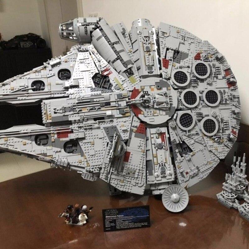 Educativos 8445 piezas serie Star Wars de insignia de ortografía insertar juguetes de bloques de construcción 05132 final Millenaries Falcon
