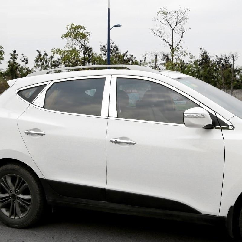 Хром декоративные модифицированные окно внешний лихой украшения отделочные накладки аксессуар для автомобиля укладки Запчасти для hyundai IX35