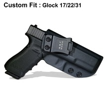 B.B.F Make IWB Tactical KYDEX Gun Holster Fits: Glock 17 22 31 Inside Concealed Carry Waistband Pistola Belt Clip Accessories недорого