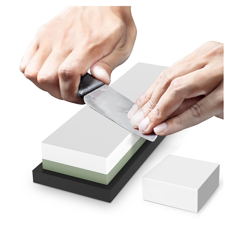 Premium <font><b>Sharpening</b></font> Stone 2 Side Grit <font><b>3000</b></font>/<font><b>8000</b></font> <font><b>Whetstone</b></font> | Best Kitchen Knife Sharpener Waterstone with NonSlip Rubber Base & image
