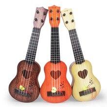 Дети Малый размеры Музыкальные инструменты Имитационные Гавайские гитары укулеле Мини гитары играть игрушки с четыре струны