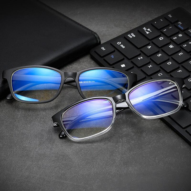 Anti Blau Licht Lesebrille Frauen Männer Klar Brillen Brillen Flache Spiegel Blau Licht Blockieren Gläser Computer Brille GroßEr Ausverkauf