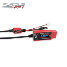 FuriousFPV Smart Cable Wire 125cm Support 3-6S LiPo Battery For FPV Goggles Ground Station RC FPV Racing Drone Parts Accessories