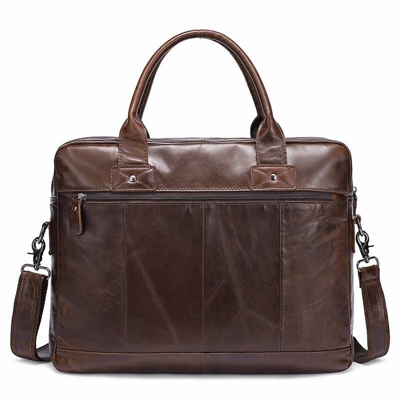 คุณภาพสูง Messenger กระเป๋าผู้ชายกระเป๋าหนังแท้ Casual ชาย man briefcases แล็ปท็อปผู้ชาย Crossbody ชาย-ใน กระเป๋าเอกสาร จาก สัมภาระและกระเป๋า บน   2