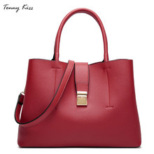 Tonny Kizz luxury handbags women bags designer business female shoulder leather tote office lady bolso mujer OL