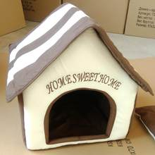 2019 New Pet Dog House winter Portable Indoor Pet Bed Dog House Soft Warm and Comfortable Cat Dog Sweet Room(China)