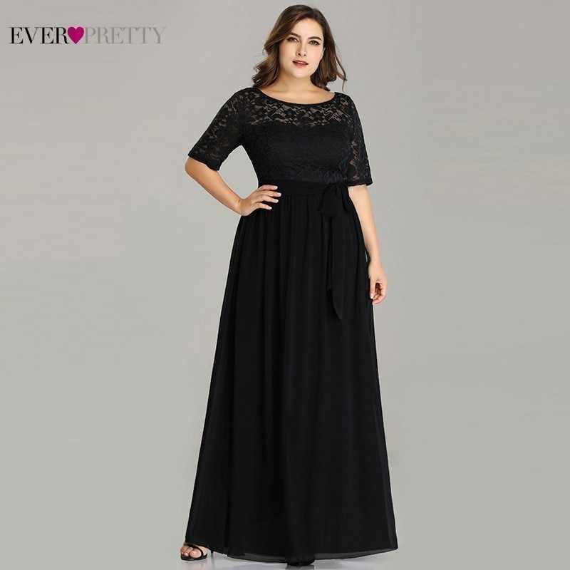 Vestidos De la madre De la novia De talla grande even Pretty EZ07624NB elegante una línea De encaje largo Formal vestidos De noche Robe De Soiree 2020